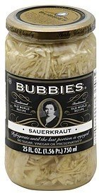 sauerkraut Bubbies Nutrition info