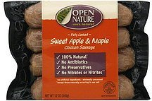 sausage chicken, sweet apple & maple Open Nature Nutrition info