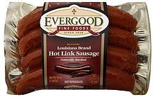 sausage hot link, louisiana brand Evergood Fine Foods Nutrition info