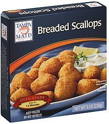 scallops breaded Tampa Maid Nutrition info