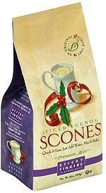 scone mix premium, spiced eggnog Sticky Fingers Bakeries Nutrition info