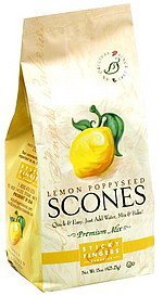 scones lemon poppyseed Sticky Fingers Bakeries Nutrition info