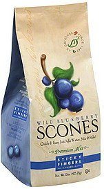 scones mix premium, wild blueberry Sticky Fingers Bakeries Nutrition info