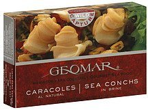 sea conches in brine Geomar Nutrition info