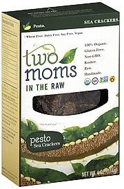 sea crackers pesto Two Moms in the Raw Nutrition info