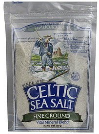 sea salt celtic, fine ground Selina Naturally Nutrition info
