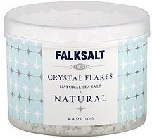 sea salt crystal flakes Falksalt Nutrition info
