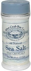 sea salt fine crystals Blue Crab Bay Co. Nutrition info