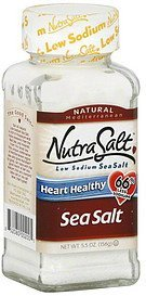 sea salt low sodium NutraSalt Nutrition info