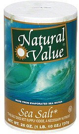 sea salt Natural Value Nutrition info