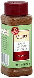 seafood seasoning blend cajun Sauers Nutrition info