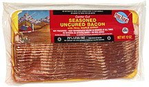 seasoned uncured bacon with real maple syrup, center cut Pure Farms Nutrition info