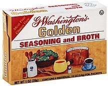 seasoning and broth golden G Washingtons Nutrition info
