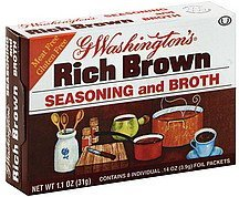 seasoning and broth rich brown G Washingtons Nutrition info