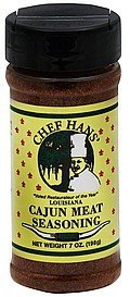 seasoning cajun meat Chef Hans Nutrition info