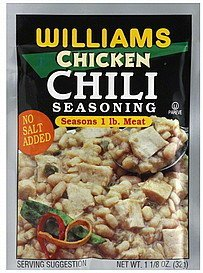 seasoning chicken chili Williams Nutrition info