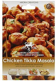 seasoning chicken tikka masala Arora Creations Nutrition info