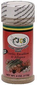 seasoning garlic, escallion & allspice Jcs Reggae Country Style Brand Nutrition info