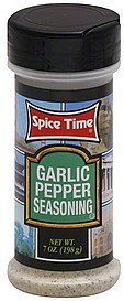 seasoning garlic pepper Spice Time Nutrition info