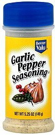 seasoning garlic pepper Better valu Nutrition info