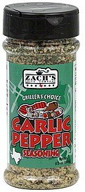 seasoning garlic pepper Zachs Nutrition info