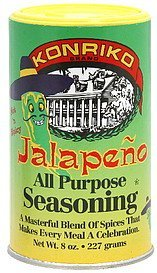 seasoning jalapeno, all purpose Konriko Nutrition info