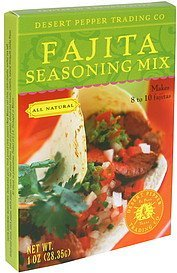 seasoning mix fajita Desert Pepper Nutrition info