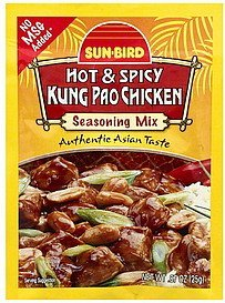 seasoning mix kung pao chicken, hot & spicy Sun-Bird Nutrition info