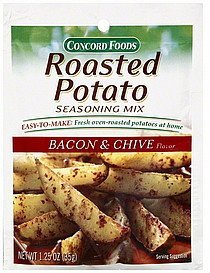 seasoning mix roasted potato, bacon & chive flavor Concord Foods Nutrition info