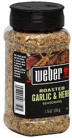 seasoning roasted garlic & herb Weber Nutrition info
