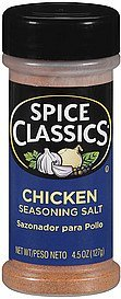 seasoning salt chicken Spice Classics Nutrition info