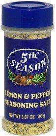 seasoning salt lemon & pepper 5th Season Nutrition info