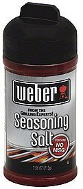 seasoning salt Weber Nutrition info