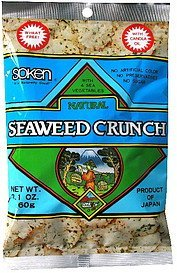 seaweed crunch natural Soken Nutrition info