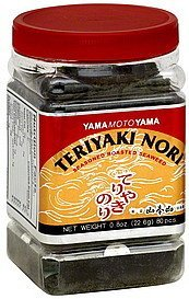 seaweed seasoned, roasted, teriyaki nori Yama Moto Yama Nutrition info