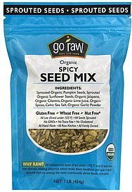seed mix spicy, organic Go Raw Nutrition info