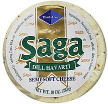semi-soft cheese dill havarti Saga Nutrition info