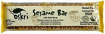 sesame bar with date syrup Oskri Nutrition info