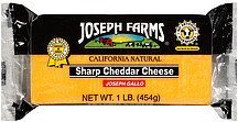 sharp cheddar cheese Joseph Farms Nutrition info