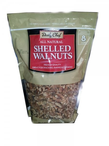 shelled walnuts all natural Daily Chef Nutrition info