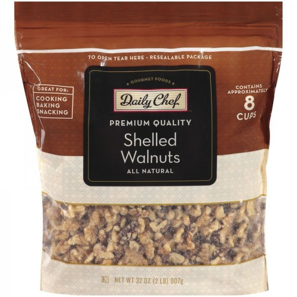 shelled walnuts Daily Chef Nutrition info