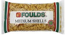 shells medium Foulds Nutrition info