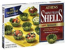shells mini fillo, spinach Athens Nutrition info