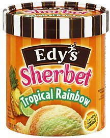 sherbet tropical rainbow Edys Nutrition info