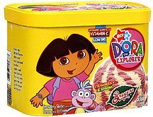sherbet with ice cream dora the explorer, strawberry & banana Breyers Nutrition info
