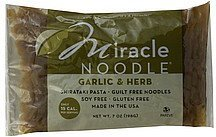 shirataki pasta garlic & herb Miracle Noodle Nutrition info