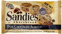 shortbread cookies dark chocolate almond Sandies Nutrition info