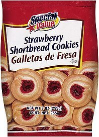 shortbread cookies strawberry Special Value Nutrition info
