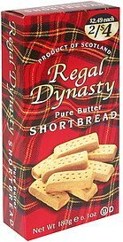 shortbread pure butter Regal Dynasty Nutrition info