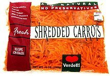 shredded carrots fresh Verdelli Nutrition info
